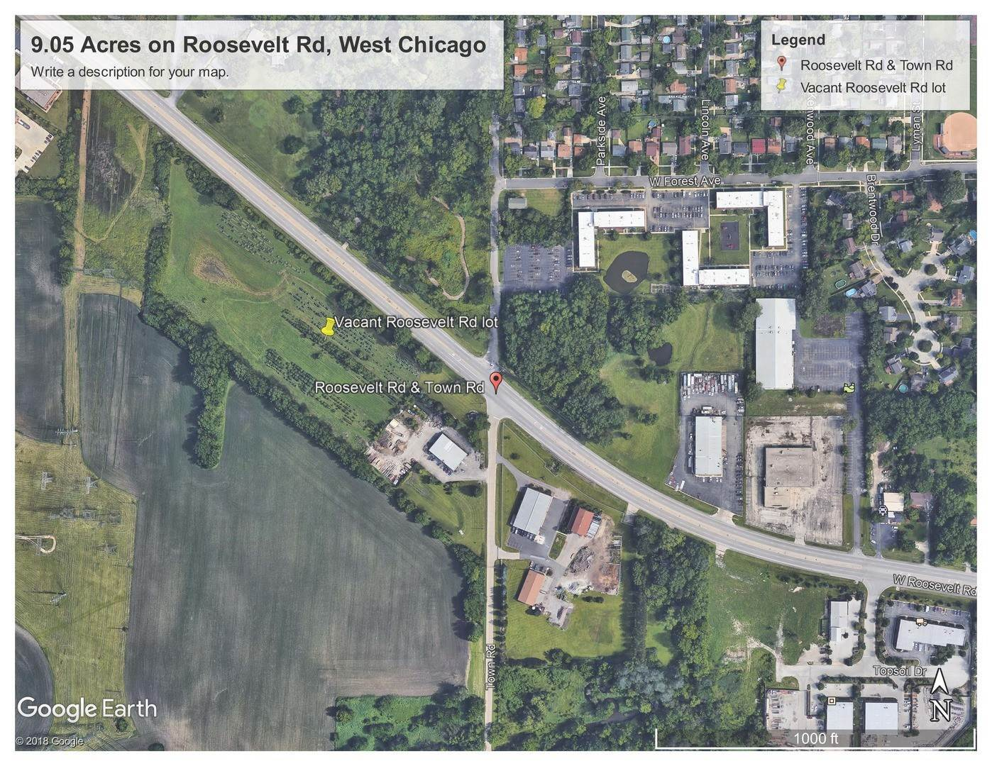 Land for Sale at Roosevelt Road West Chicago, Illinois 60185 United States