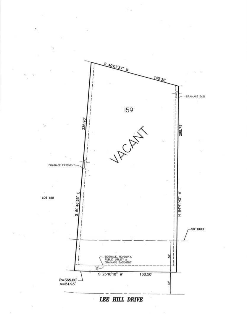 Land for Sale at Lot 159 Lee Hill Road Millbrook, Illinois 60536 United States