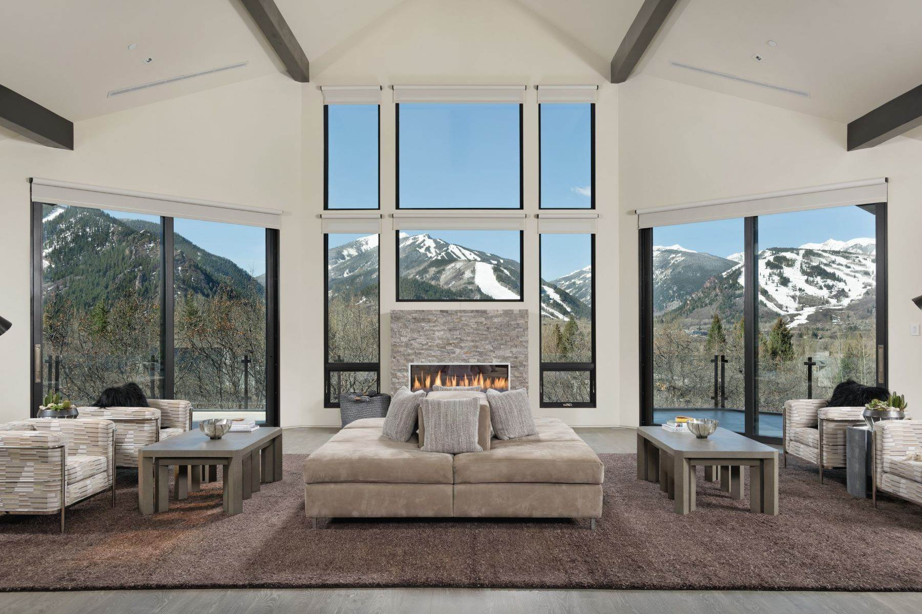 Single Family Homes pour l Vente à Red Mountain Splendor 346 Draw Drive Aspen, Colorado 81611 États-Unis