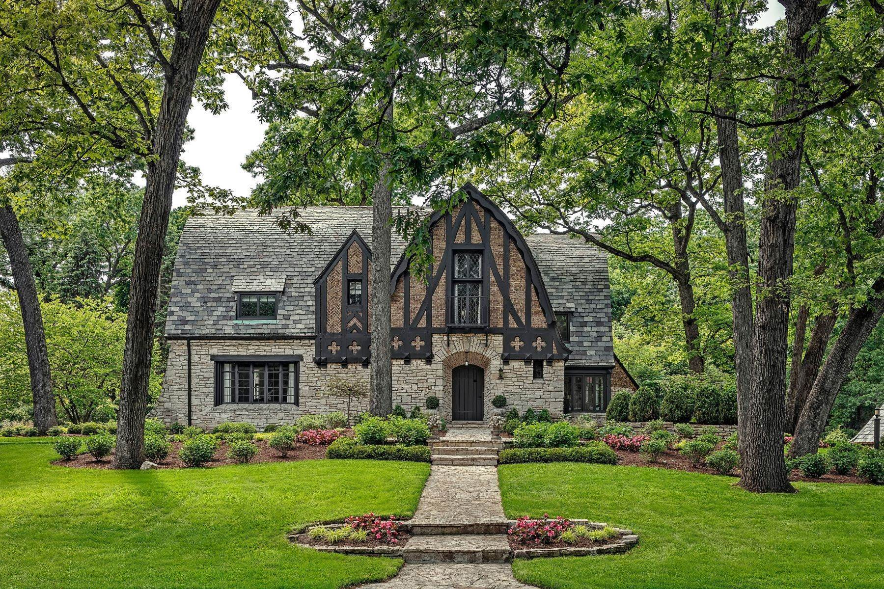 Single Family Homes for Sale at Tudor Revival Masterpiece 46 S County Line Road Hinsdale, Illinois 60521 United States