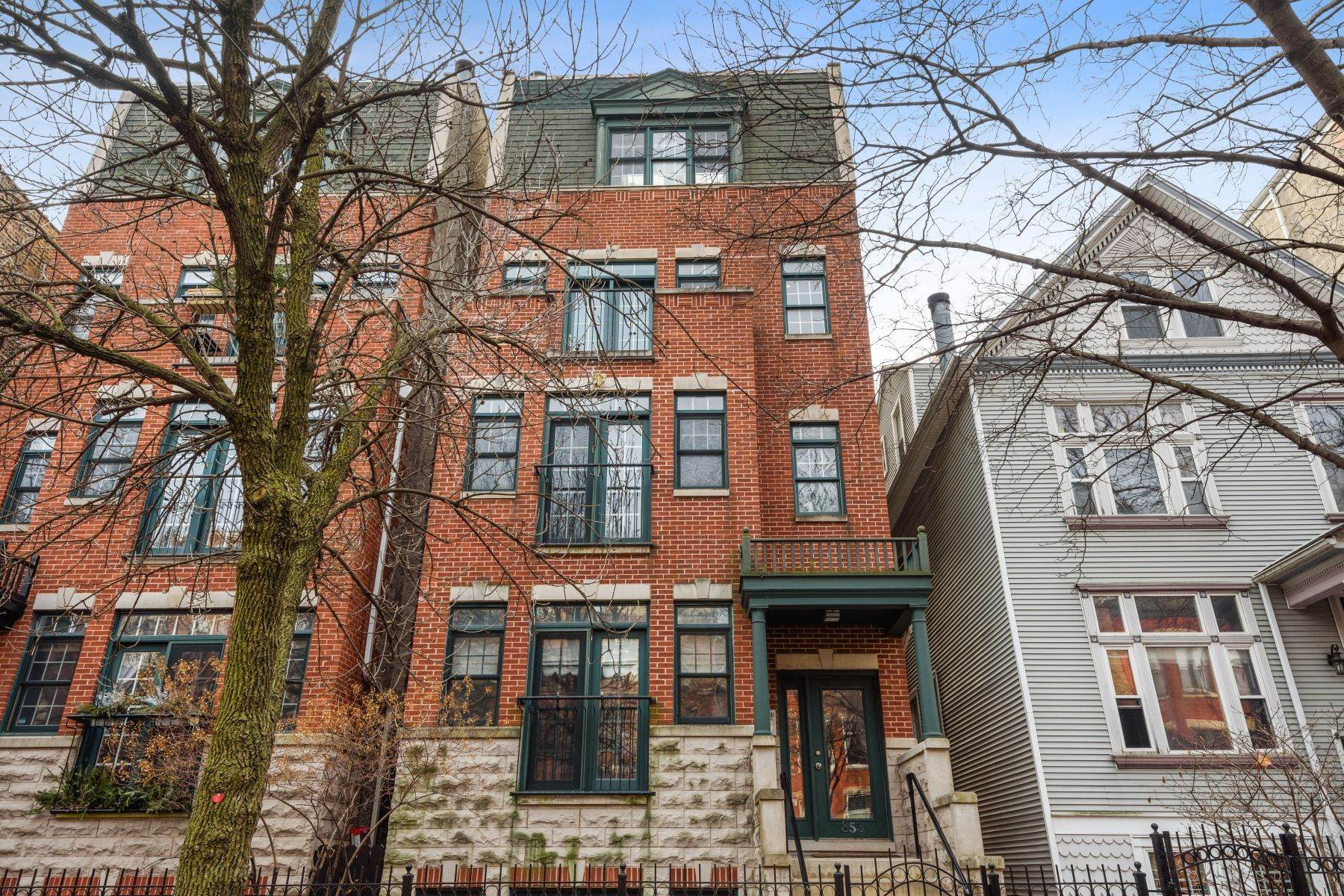 Duplex Homes for Sale at Stunning Duplex Down 853 W Roscoe Street, Unit 1 Chicago, Illinois 60657 United States