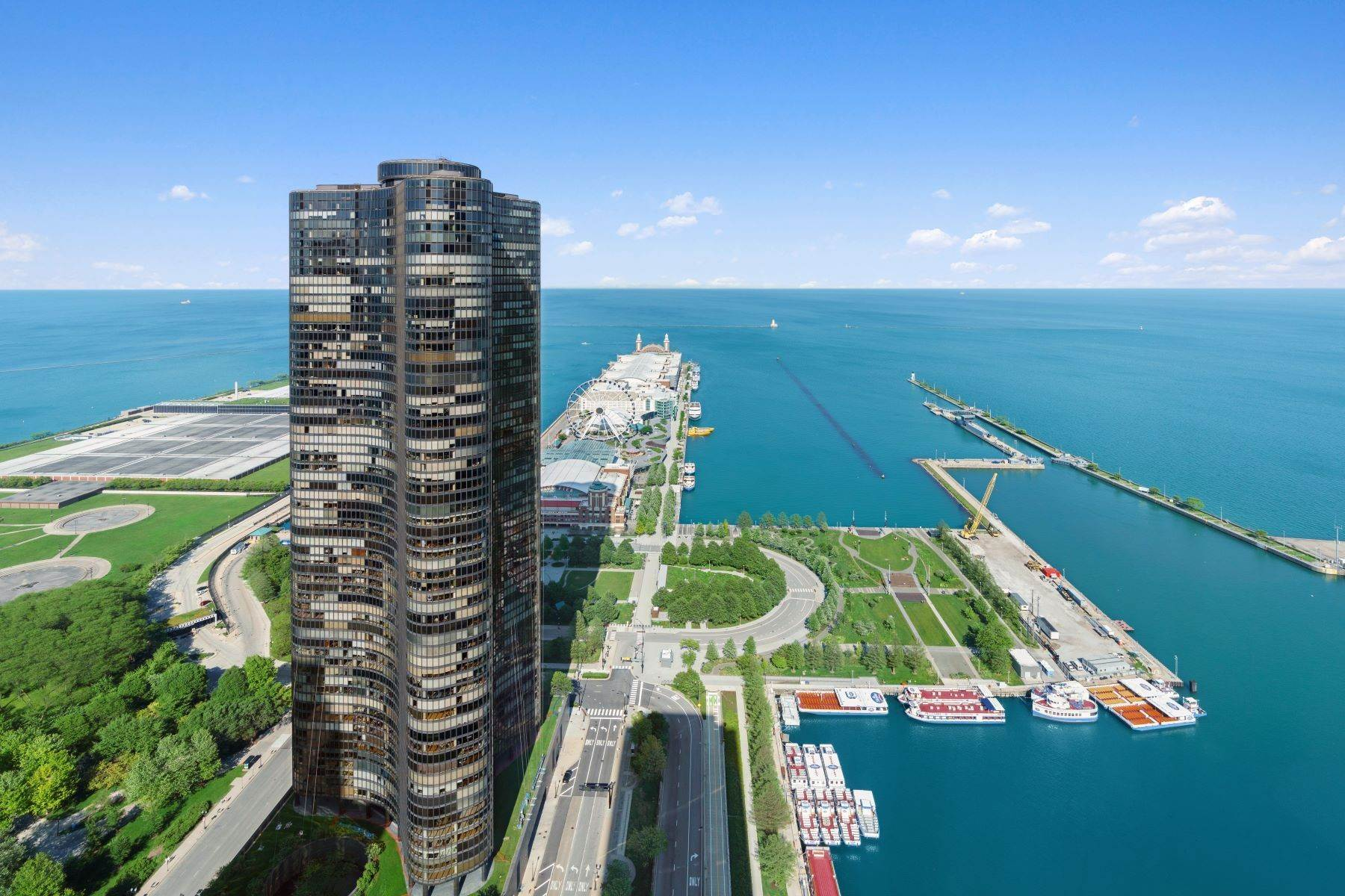 Condominiums for Sale at Lakefront Penthouse With Boat Slip 474 N Lake Shore Drive, Unit 6106 Chicago, Illinois 60611 United States