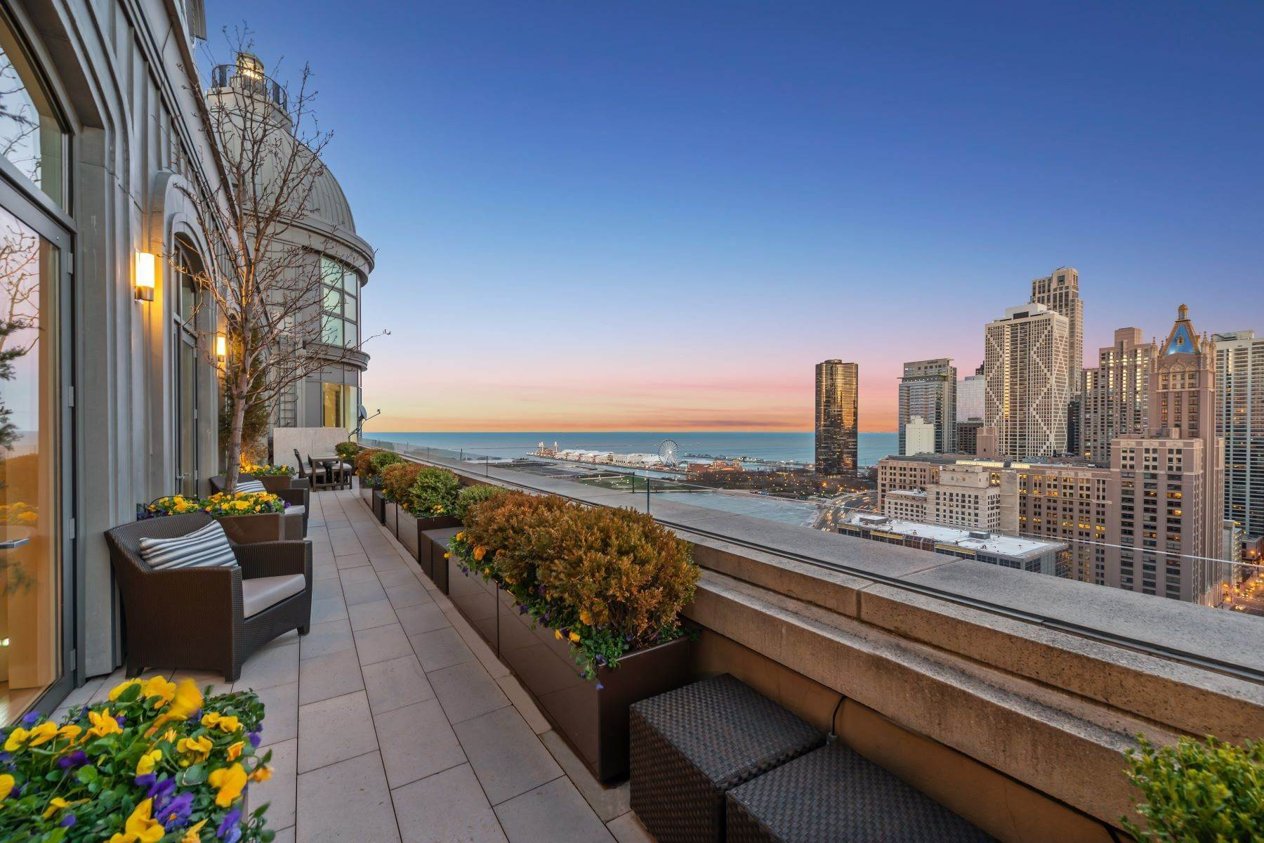 Condominiums for Sale at Chicago's Most Iconic Penthouse 840 N Lake Shore Drive, Unit 2601 Chicago, Illinois 60611 United States