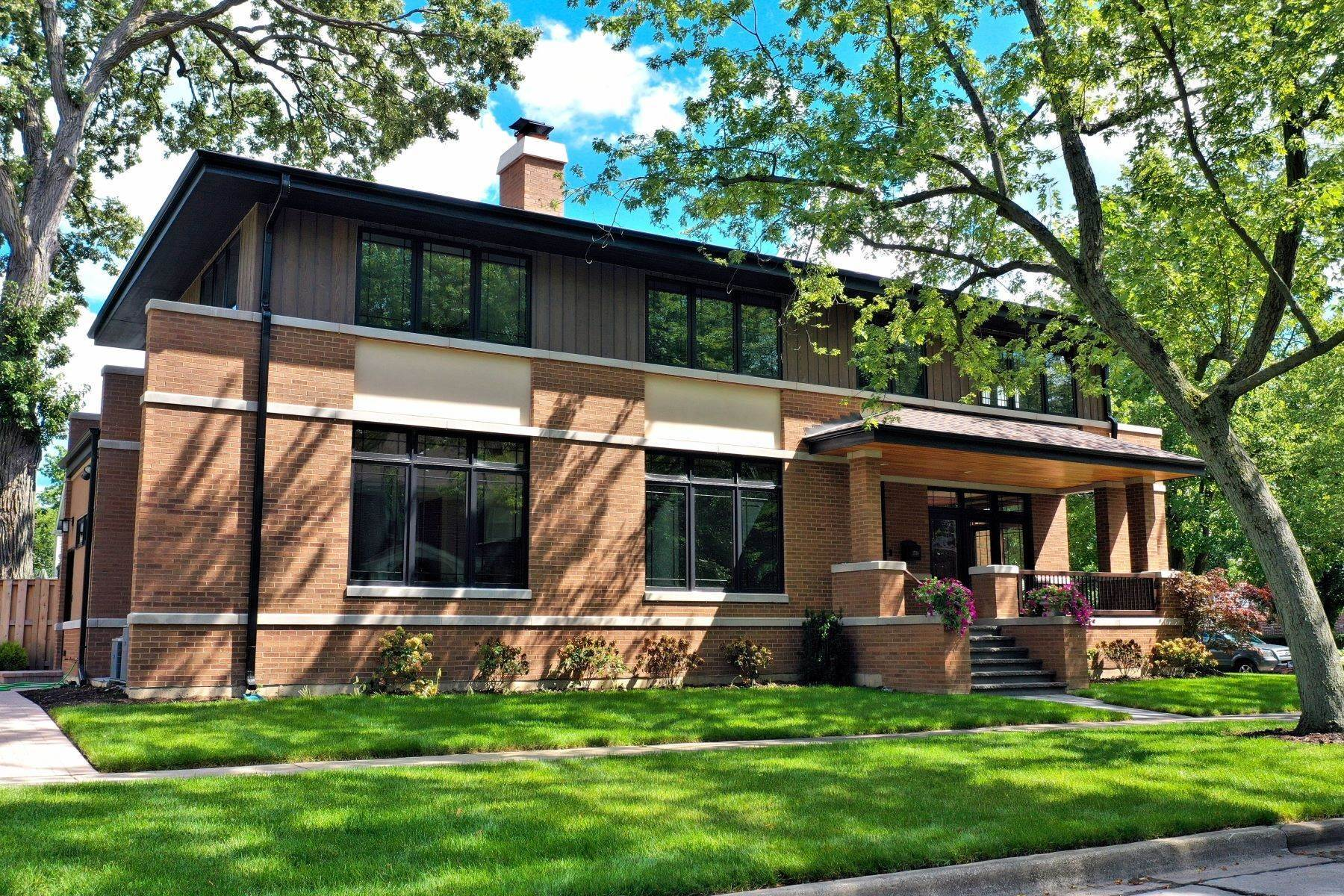 Single Family Homes for Sale at Prairie Style Home 1538 Walnut Avenue Wilmette, Illinois 60091 United States