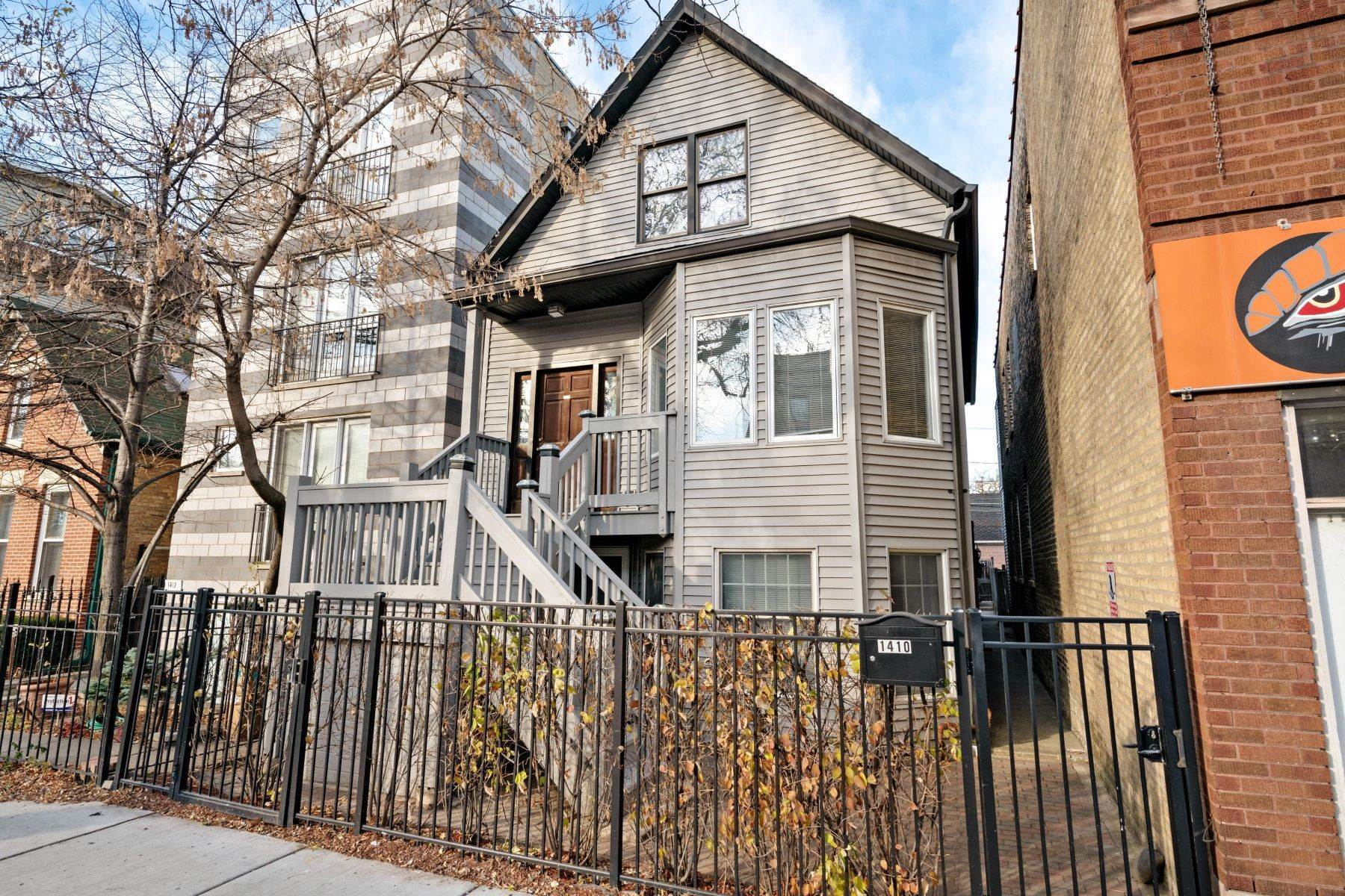Multi-Family Homes for Sale at One of a Kind 2-Flat 1410 W Diversey Parkway Chicago, Illinois 60614 United States