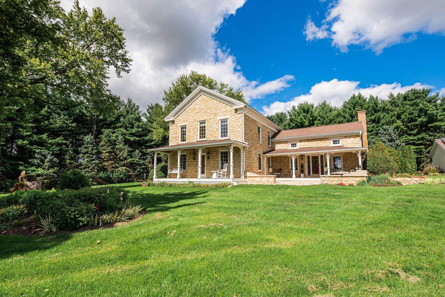 Single Family Homes for Sale at Enchanting 5 Acre Property 8936 W Cedarville Road Lena, Illinois 61048 United States