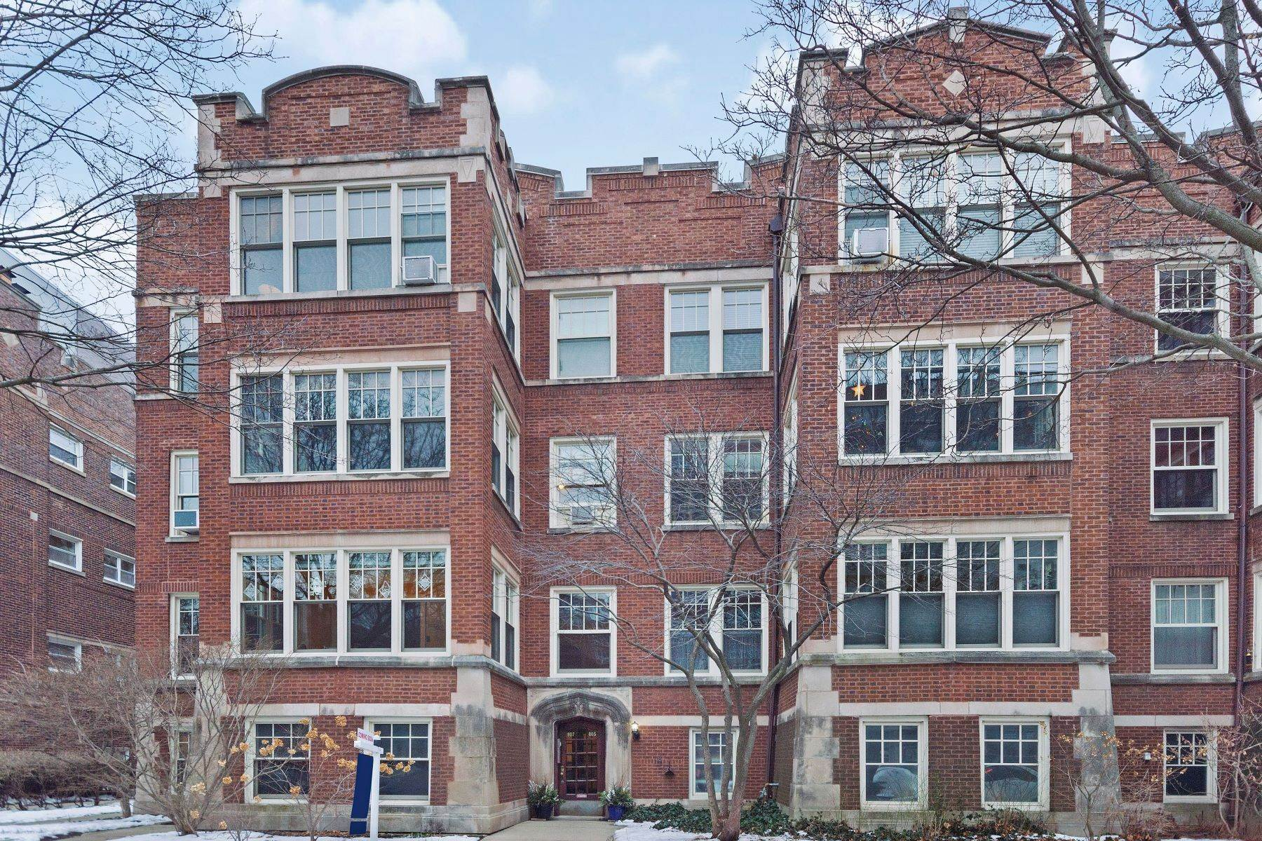 Single Family Homes for Sale at Southeast Evanston Condo 807 Hinman Avenue, Unit 3N Evanston, Illinois 60202 United States