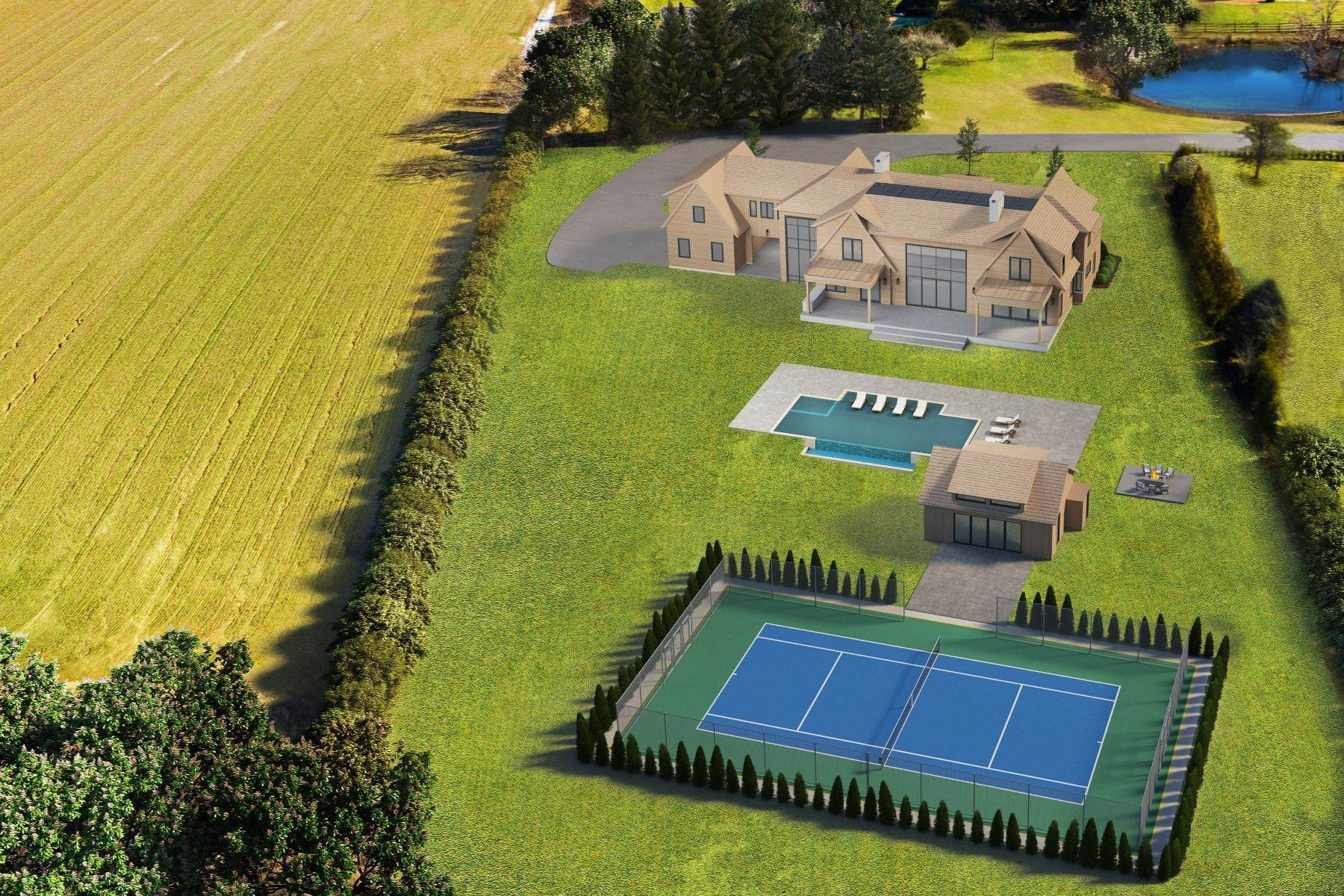 Property for Sale at Modern New Construction,Field&Pond Views 65 Ellen Court Bridgehampton, New York 11932 United States