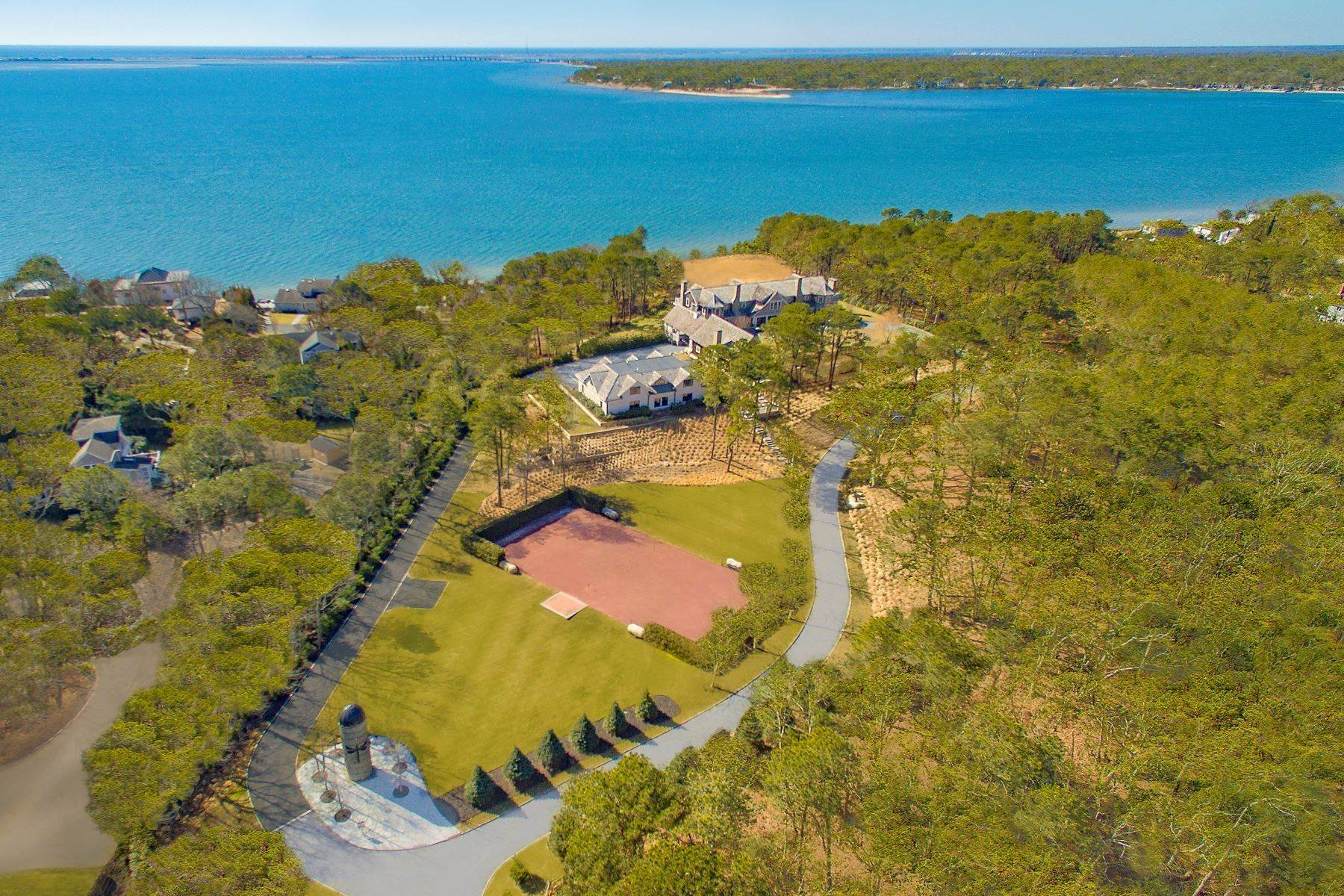 Single Family Homes -de Fantastic Southampton Bay View Estate 660 Montauk Highway Southampton, New York 11968 Amerika Birleşik Devletleri